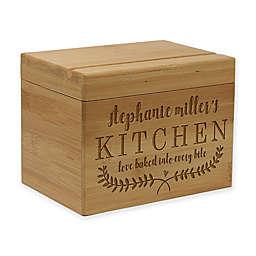 Kitchen Vine Leaf Bamboo Recipe Box