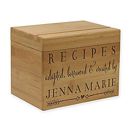 Love Arrows Bamboo Recipe Box