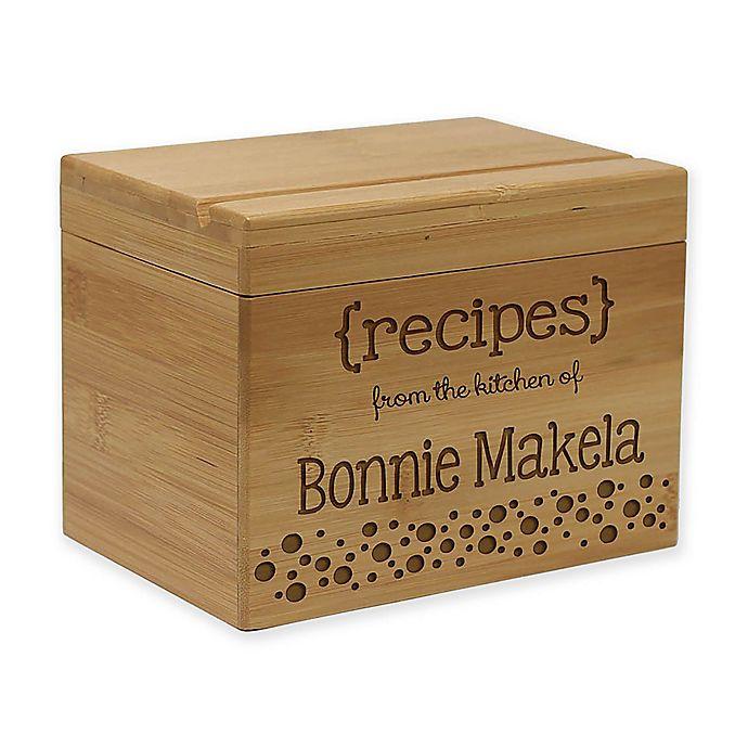 Alternate image 1 for Markings Bamboo Recipe Box