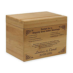"""Recipe for a Happily Ever After"" Bamboo Recipe Box"