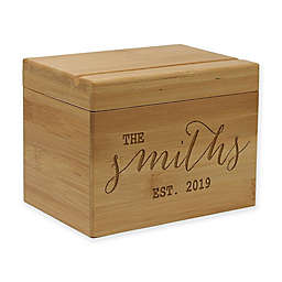 Established Date Bamboo Recipe Box