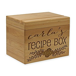 Bunched Vine Leaf Bamboo Recipe Box