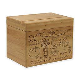 Veggie Images Bamboo Recipe Box