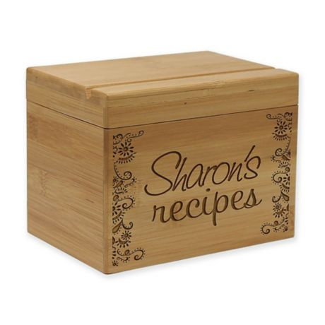 Bamboo Recipe Box Bed Bath Beyond
