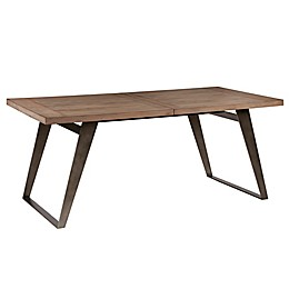 Madison Park Skylar Wood Rectangle Dining Table in Brown