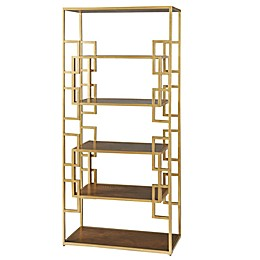 Madison Park Randall Bookcase in Gold