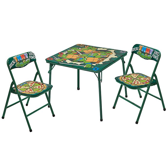 Alternate image 1 for Nickelodeon Teenage Mutant Ninja Turtles 3-Piece Table and Chair Set