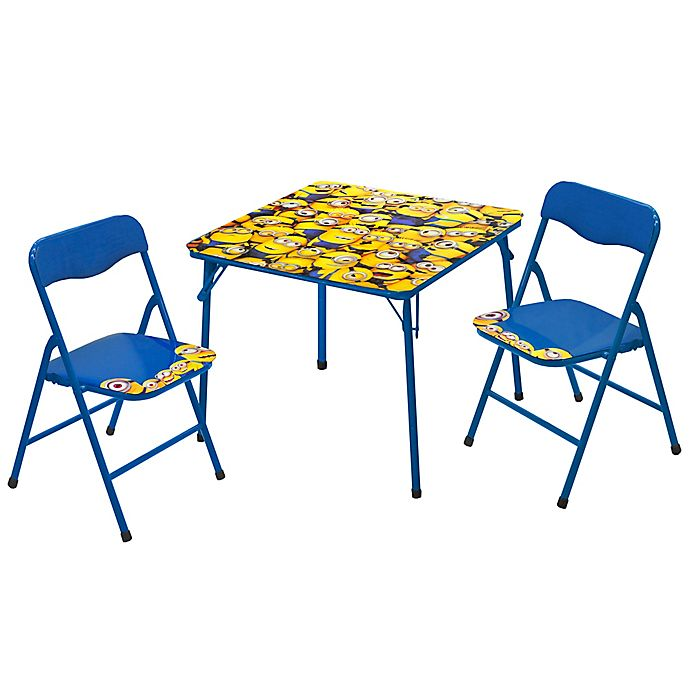 Brilliant Despicable Me 3 Minions Toddler Table And Chair Set In Alphanode Cool Chair Designs And Ideas Alphanodeonline
