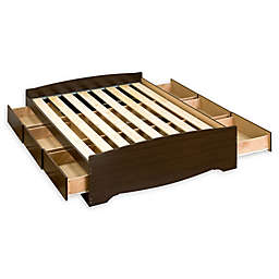 Prepac Mates Full Platform Storage Bed with Drawers in Espresso