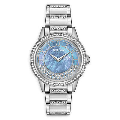 Bulova TurnStyle Women's 24mm 96L260 Swarovski® Crystal Bracelet Watch