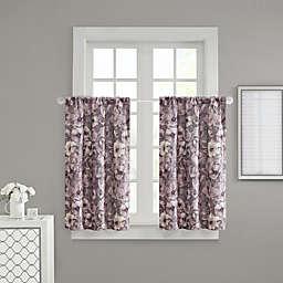 Adaline 32-Inch Rod Pocket Window Curtain Panels in Purple (Set of 2)