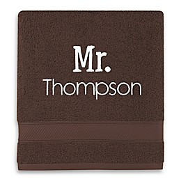 Monogrammed Wamsutta® Hygro® Mr. and Mrs. Duet Towel Collection