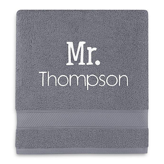 Alternate image 1 for Monogrammed  Wamsutta®  Hygro® Mr. & Mrs. Duet Bath Towel