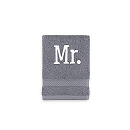 Monogrammed  Wamsutta®  Hygro® Mr. & Mrs. Duet Washcloth