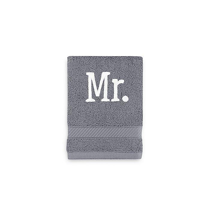 Alternate image 1 for Monogrammed  Wamsutta®  Hygro® Mr. & Mrs. Duet Washcloth