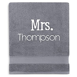 Monogrammed  Wamsutta®  Hygro® Mr. & Mrs. Duet Bath Sheet