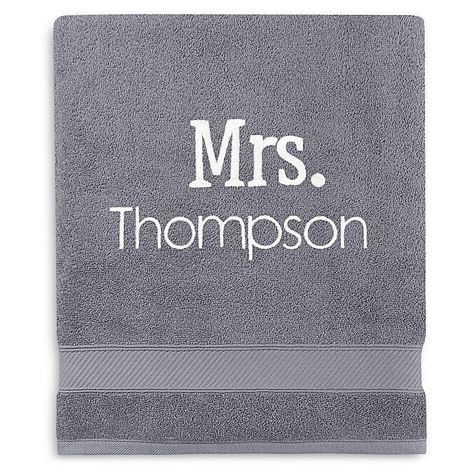 Alternate image 1 for Monogrammed  Wamsutta®  Hygro® Mr. & Mrs. Duet Bath Sheet