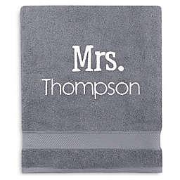 Wamsutta® Personalized Hygro® Mr. & Mrs. Duet Bath Sheet