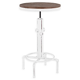 LumiSource Hydra Metal and Wood Adjustable Bar Table