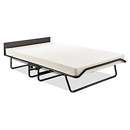JAY-BE Visitor Folding Guest Bed with Oversize Airflow Mattress in Black