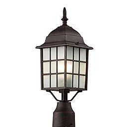 Bel Air San Gabriel 18.5-Inch Postmount Lantern