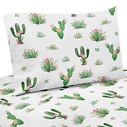 Sweet Jojo Designs Cactus Floral Twin Sheet Set