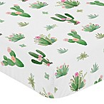 Sweet Jojo Designs Cactus Floral Crib Sheet