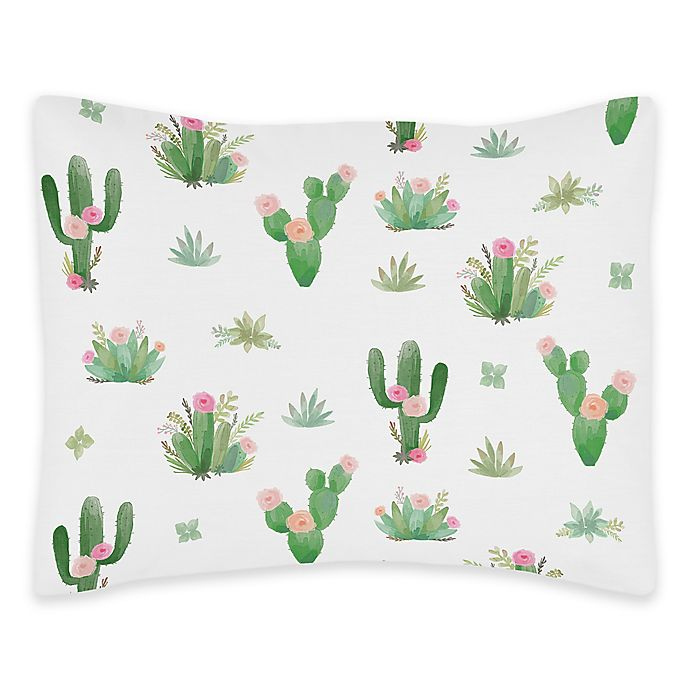 Alternate image 1 for Sweet Jojo Designs Cactus Floral Standard Pillow Sham