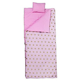Wildkin Stars Original Kids' Sleeping Bag in Pink