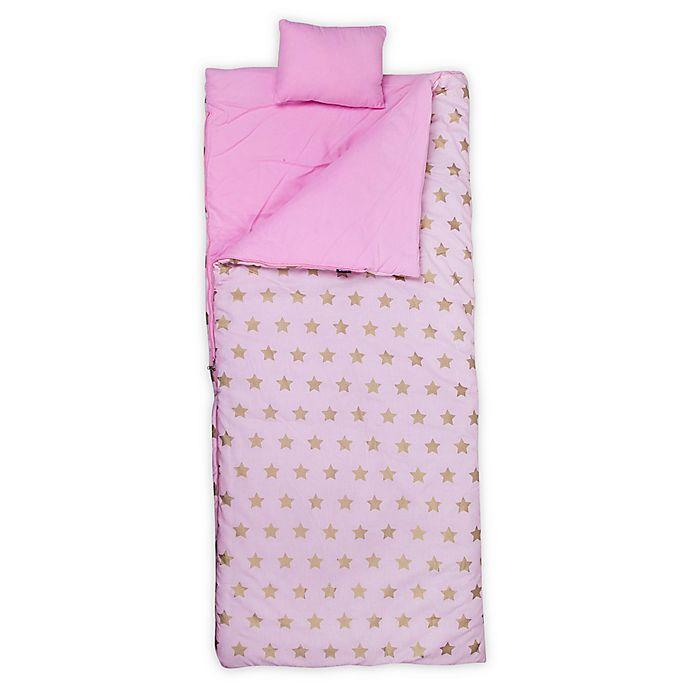 Alternate image 1 for Wildkin Stars Original Kids' Sleeping Bag in Pink