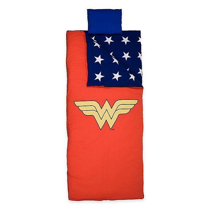 Alternate image 1 for Wildkin Wonder Woman Children's Sleeping Bag in Red