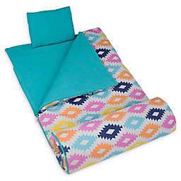 Wildkin 3-Piece Aztec Sleeping Bag Set in Blue