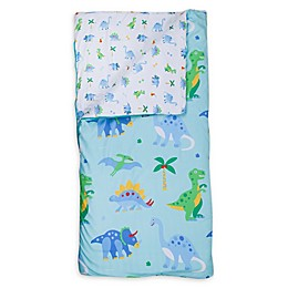 Wildkin Dinosaur Land Kids' Sleeping Bag in Blue