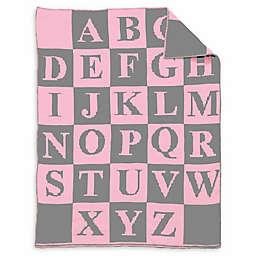 Alphabet Baby Blanket in Navy/Blue