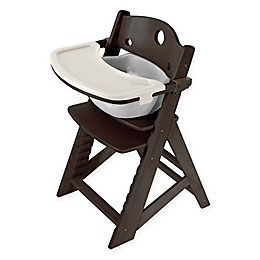 Keekaroo® Height Right High Chair Espresso with Infant Insert and Tray