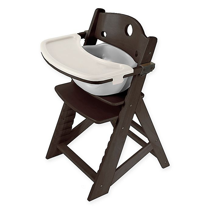 Alternate image 1 for Keekaroo® Height Right High Chair in Espresso with Grey Infant Insert and Tray