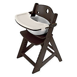 Keekaroo® Height Right High Chair in Espresso with Grey Infant Insert and Tray