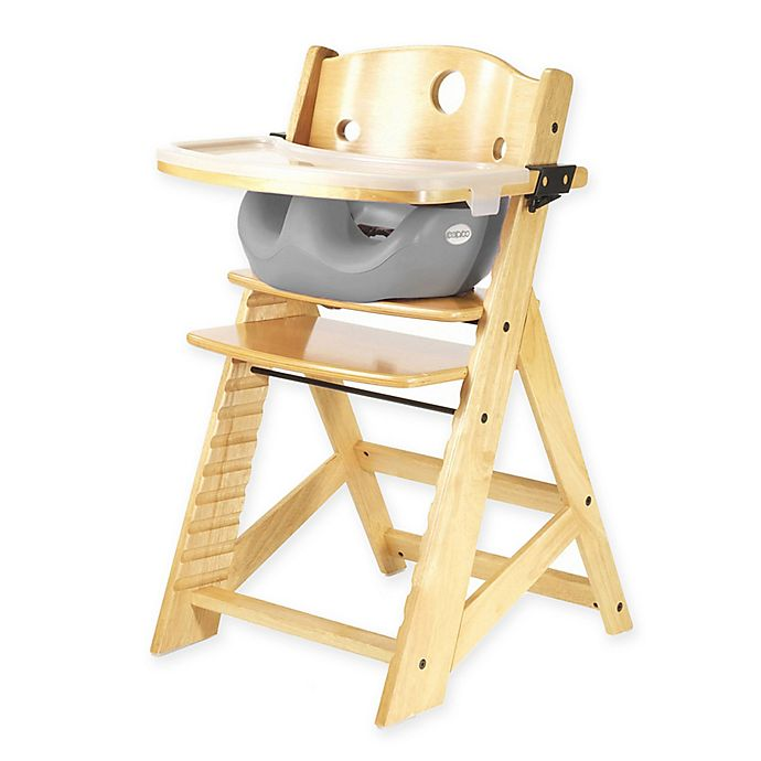 Alternate image 1 for Keekaroo® Height Right High Chair Natural with Infant Insert and Tray