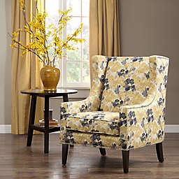 Madison Park Barton Wing Chair in Lacework