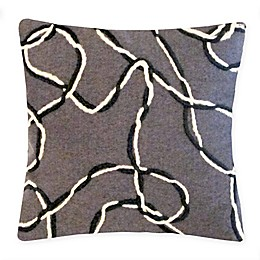Liora Manne Lasso Square Throw Pillow in Charcoal