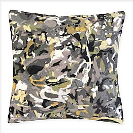 Liora Manne Confetti Indoor/Outdoor Square Throw Pillow in Green
