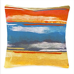 Liora Manne Paint Stripes Indoor/Outdoor Square Multicolor Throw Pillow