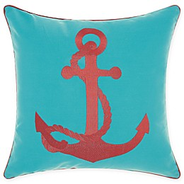 Mina Victory Anchor Indoor/Outdoor Square Throw Pillow