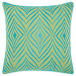 Mina Victory Chevron Indoor/Outdoor Square Throw Pillow