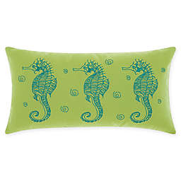 Mina Victory Seahorses Oblong Outdoor Throw Pillow