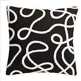 Liora Manne Lasso Crochet Square Indoor/Outdoor Throw Pillow