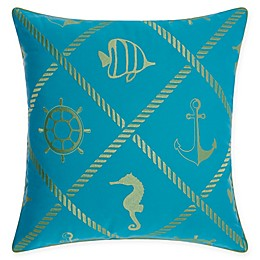 Mina Victory™ Nautical 20-Inch Square Outdoor Throw Pillow