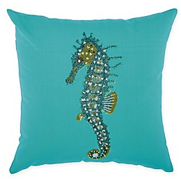 Mina Victory Seahorse Indoor/Outdoor Square Throw Pillow