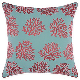 Mina Victory Corals Indoor/Outdoor Square Throw Pillow