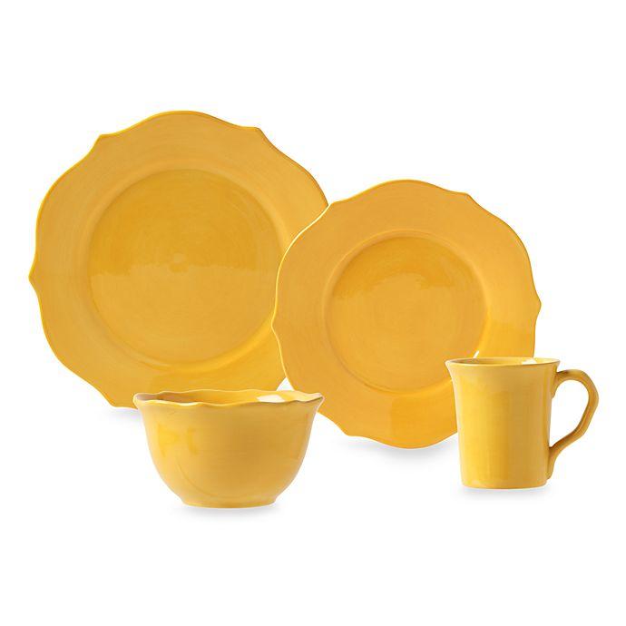 362e0db3e06 Misto Baroque Yellow Dinnerware